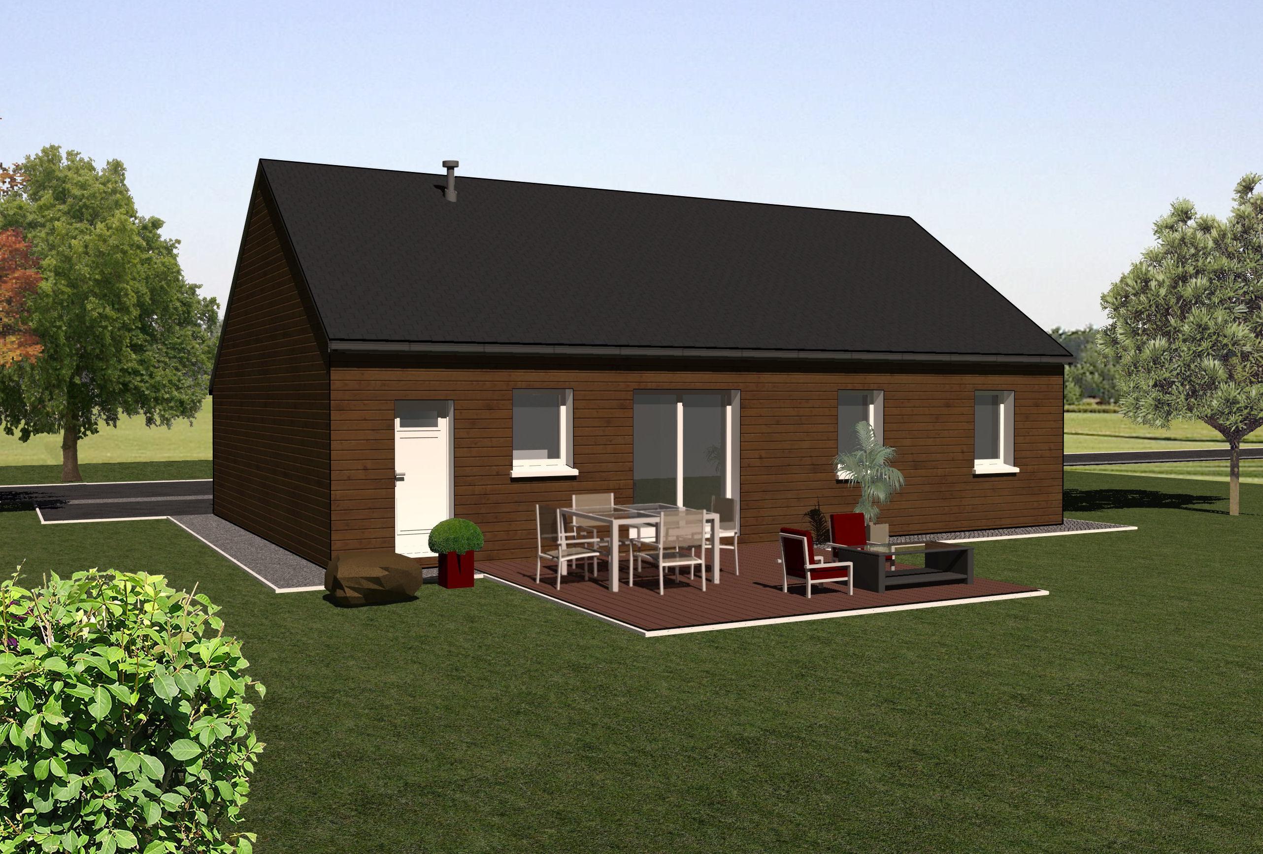 Les maisons ossature bois de plain pied mod le for Modele maison en bois plain pied