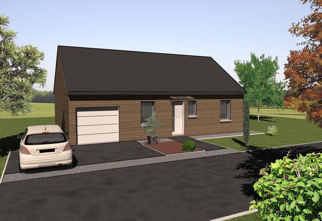 Les maisons ossature bois de plain pied mod le douglas for Modele maison en bois plain pied