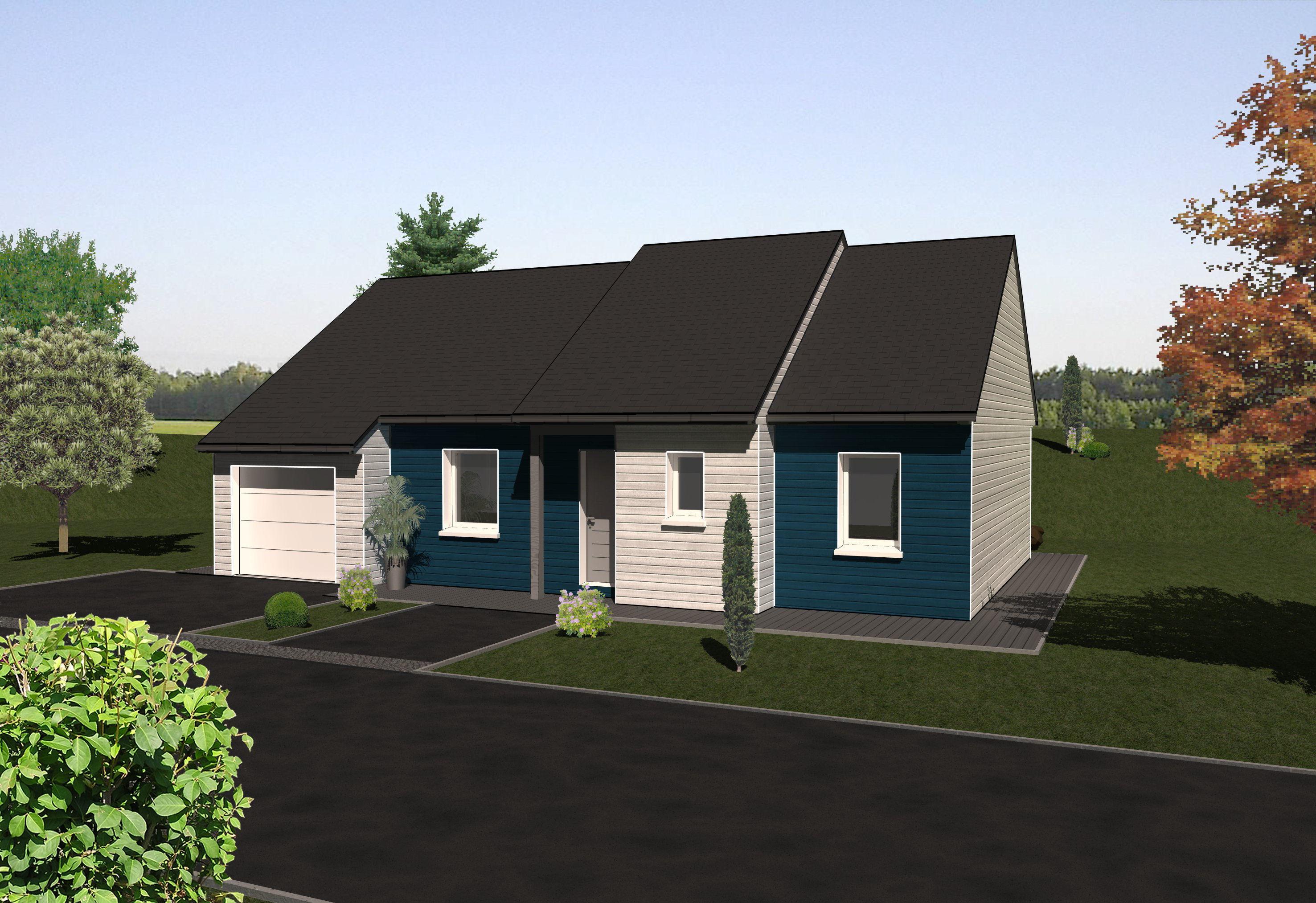 Les maisons ossature bois de plain pied mod le teck for Modele maison ossature bois