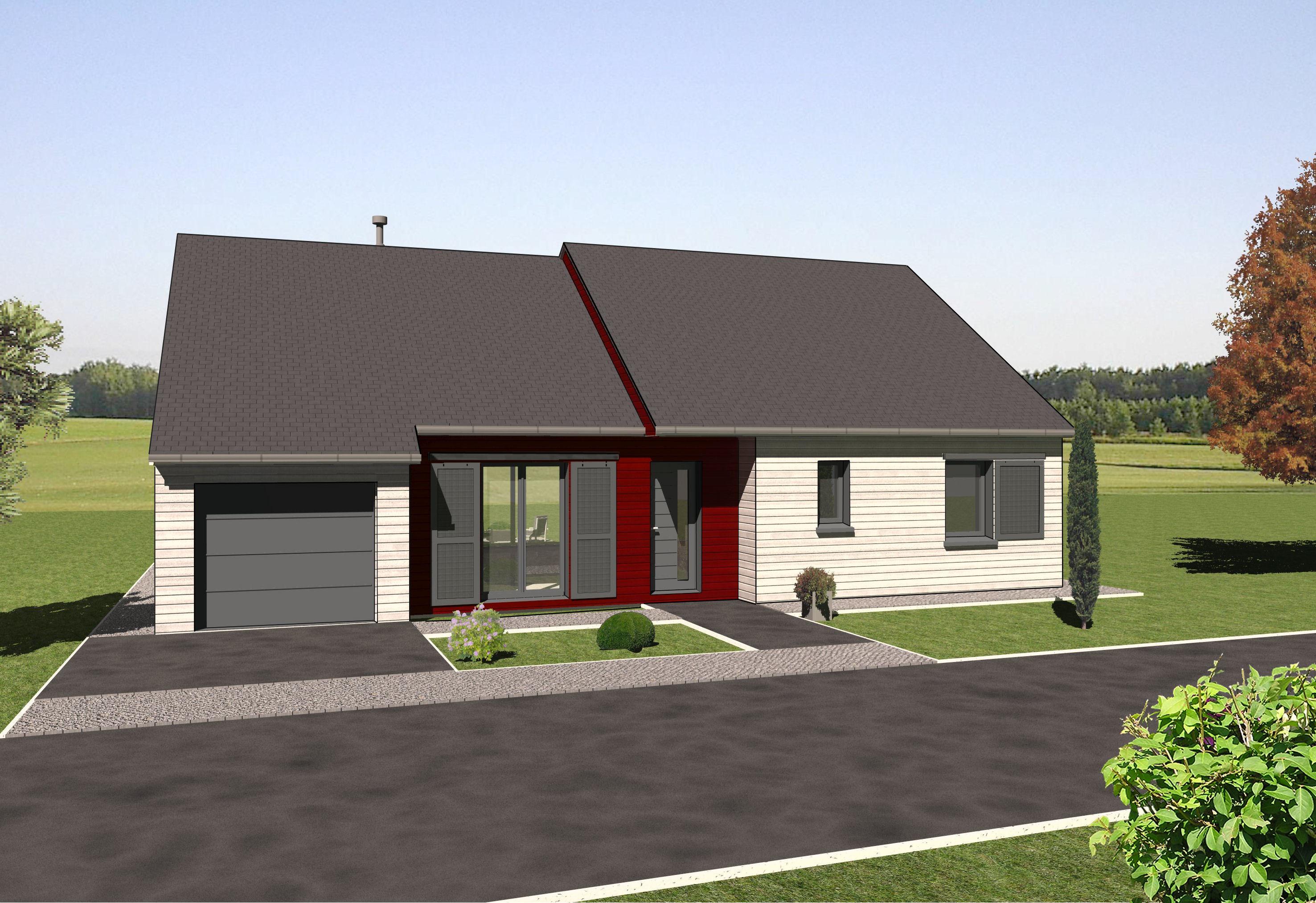 Les maisons ossature bois de plain pied mod le sorbier for Modele maison en bois plain pied