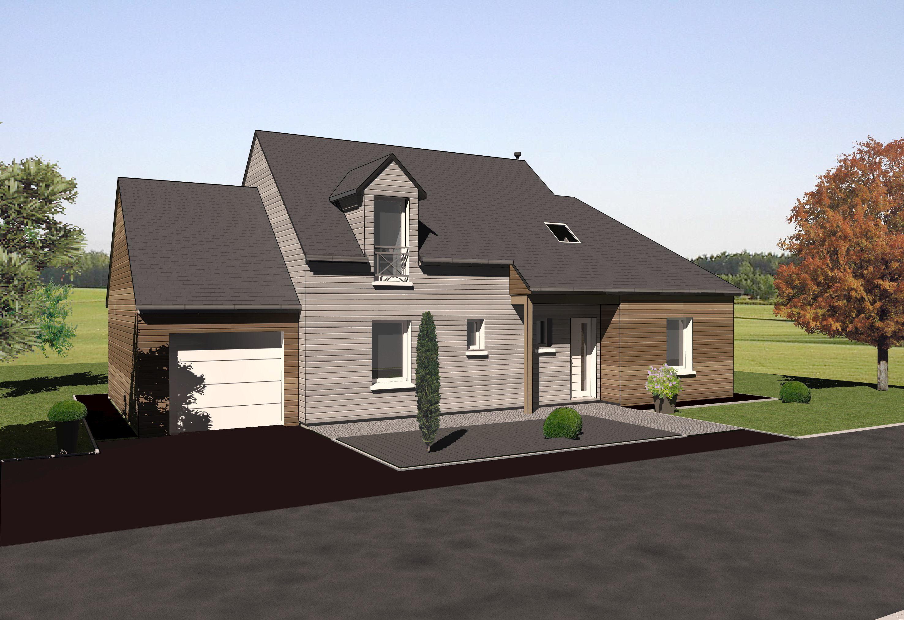 Les maisons ossature bois tages mod le chataignier for Modele maison ossature bois