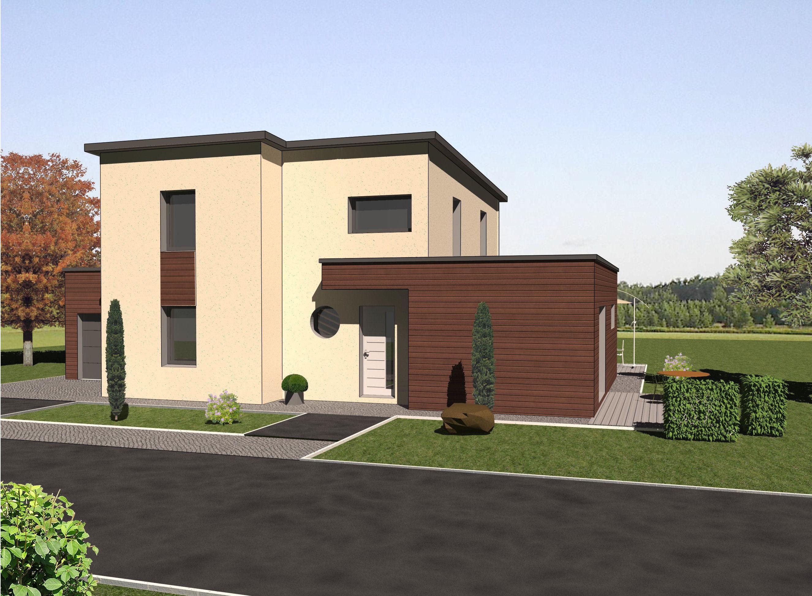Les maisons ossature bois tages mod le frene bois et vie for Modele maison ossature bois