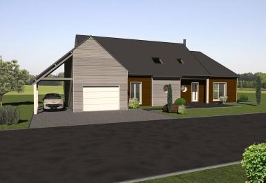 Les maisons ossature bois tages bois vie orne for Modele maison ossature bois