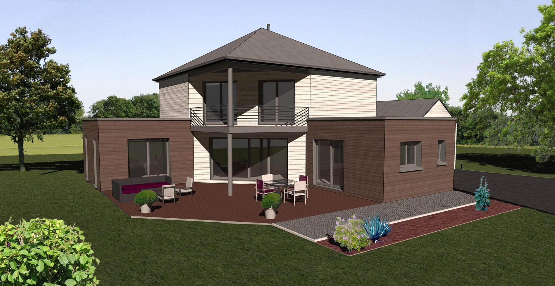 Constructeur de maisons ossature bois alen on le mans for Constructeur maison orne