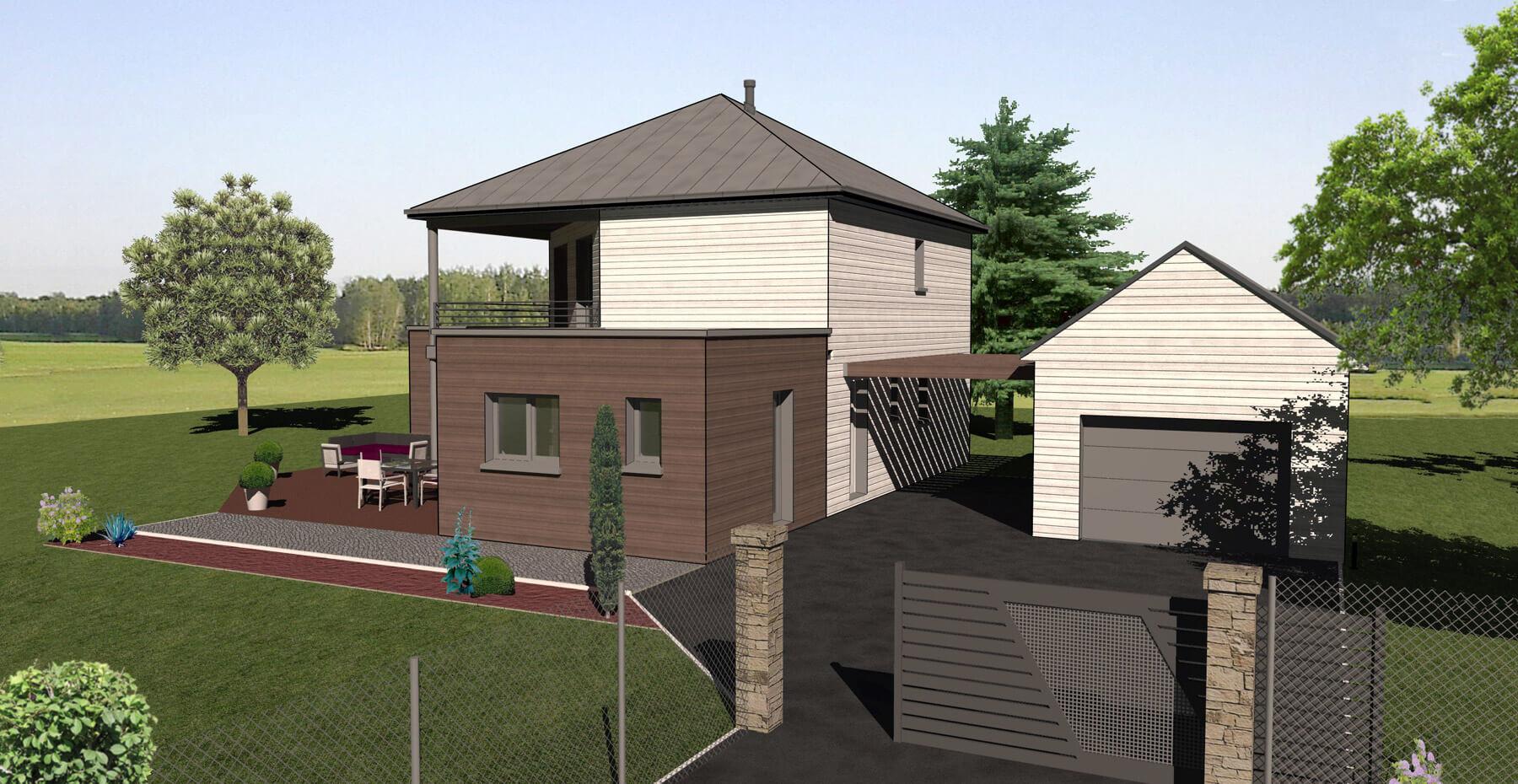 constructeur de maisons ossature bois alen on le mans. Black Bedroom Furniture Sets. Home Design Ideas